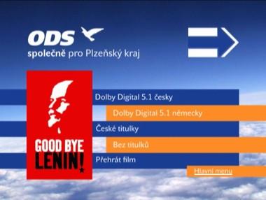 Menu DVD z volební kampaně ODS