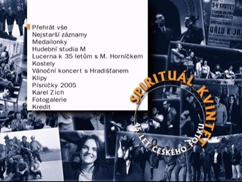 Hlavní menu DVD