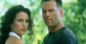 Andie MacDowell + Bruce Willis