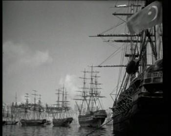 Turecké loďstvo při obraně přístavu