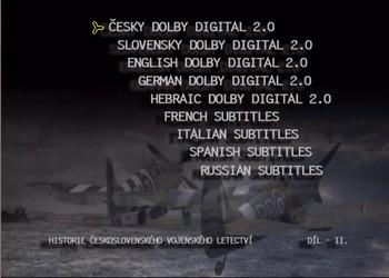 Nastavení zvuku a titulků 1. DVD