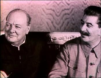 Churchill a Stalin