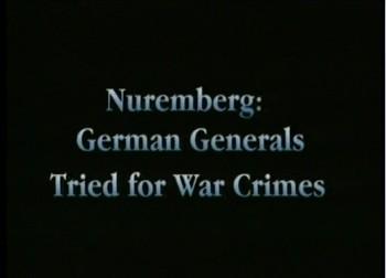 Němečtí generálové před soudem v Norimberku