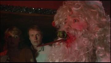 Santa s oštěpem v hlavě